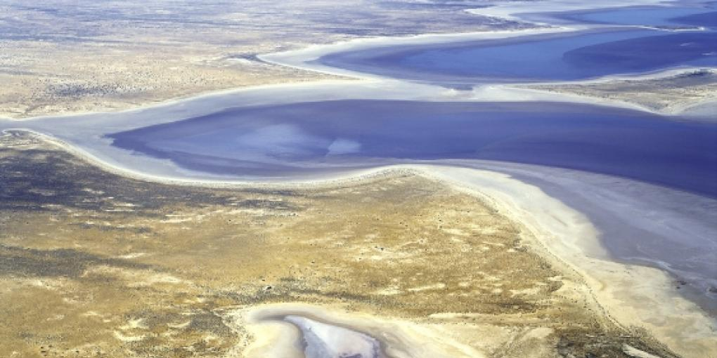 Lake Eyre full of water - a rare event. Photo: Shutterstock